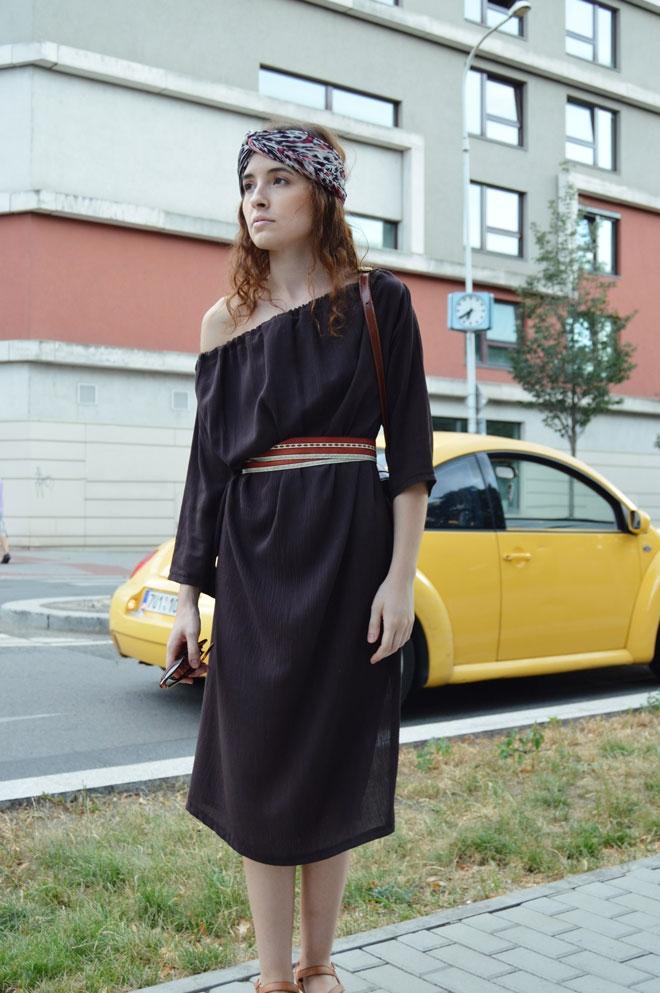 Hnedé multifunkčné šaty