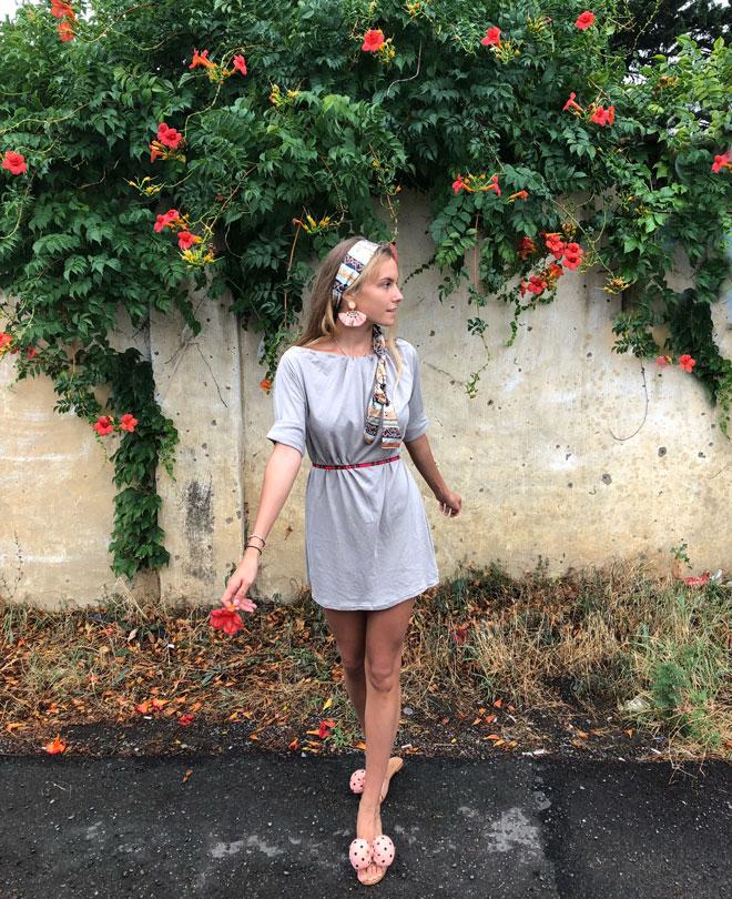 Multifunkční slow fashion šaty z organické bavlny