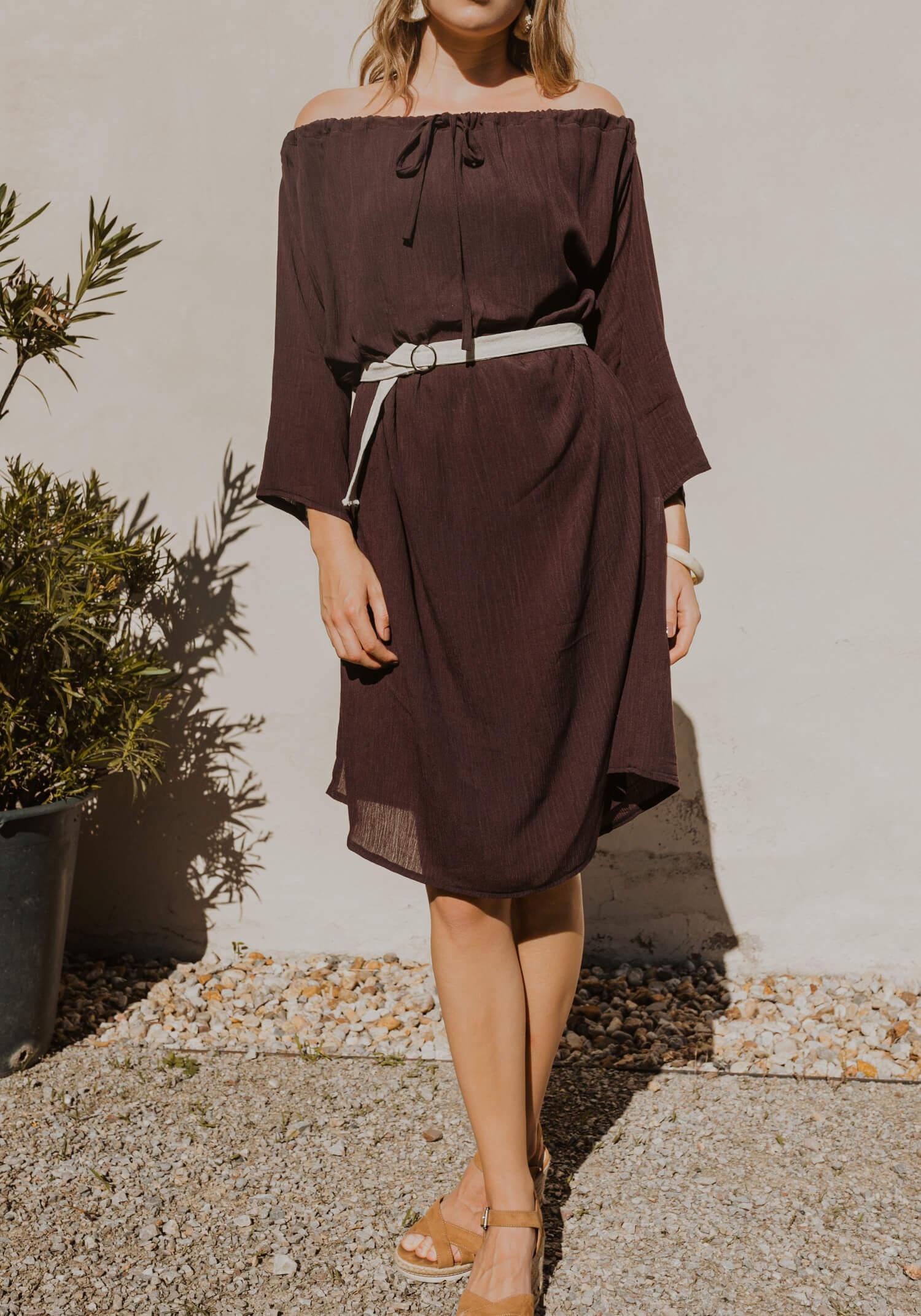 Off the shoulder versatile slow fashion Dress Prague