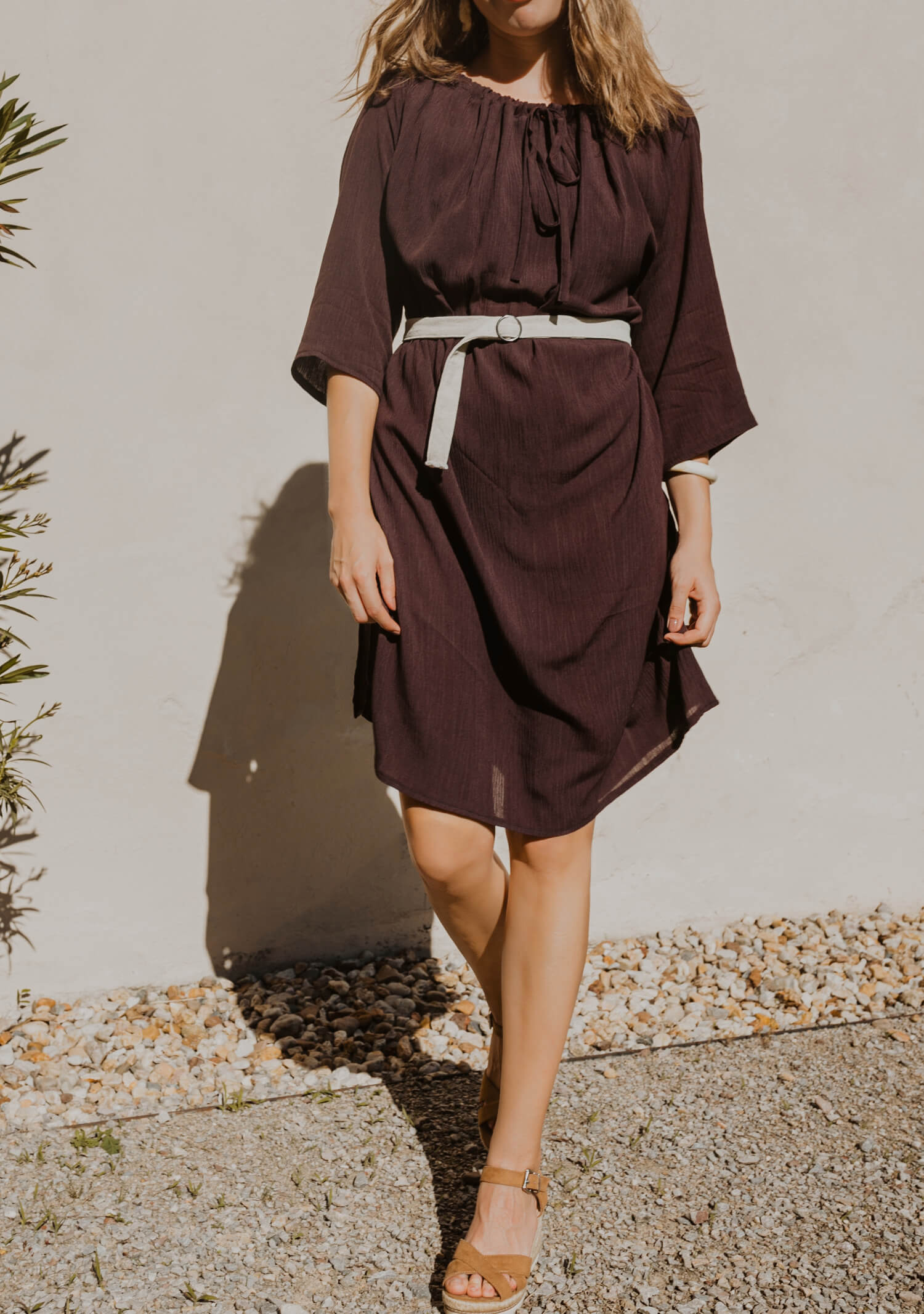 Three quarter sleeve summer dress Prague
