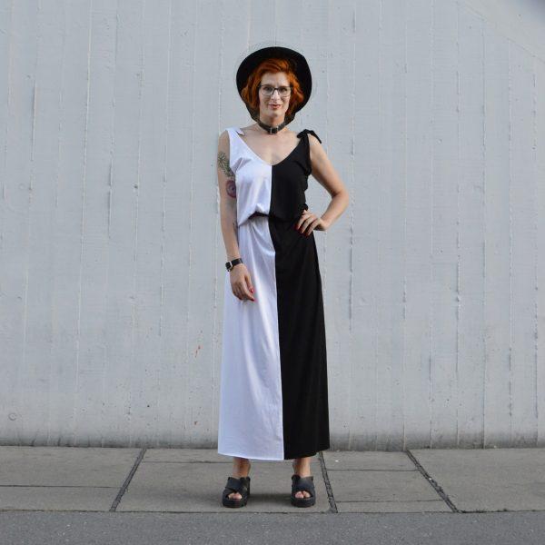Čiernobiele multifunkčné šaty na leto