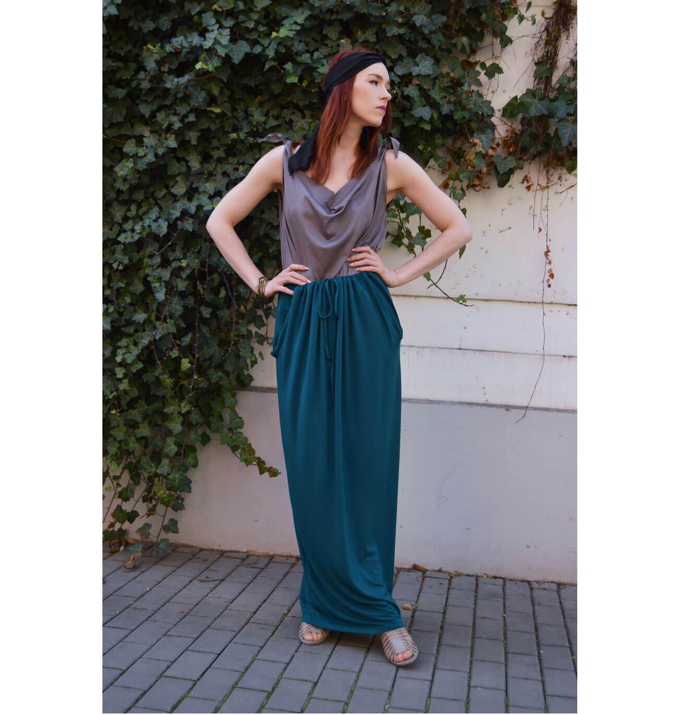 Emerald long convertible skirt Prague