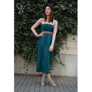 Emerald trapless dress designed and made in the Czech Republic