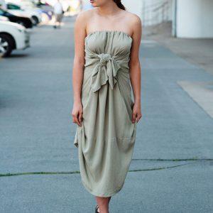 Strapless multifunctional slow fashion dress Prague