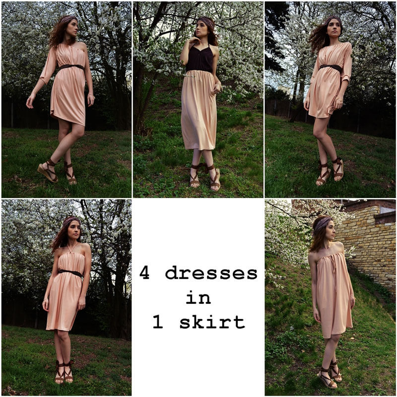 Slow fashion dress that you can wear in many ways and also as a skirt