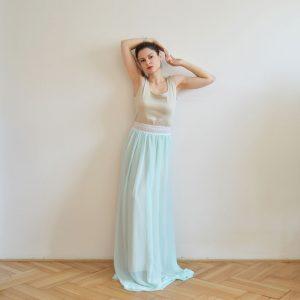 Boho plesové šaty s krajkou Praha