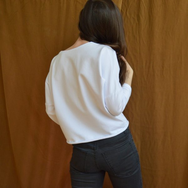 Biele slow fashion tričko