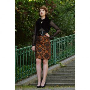 Elegantní sukně s barokovým ornamentem