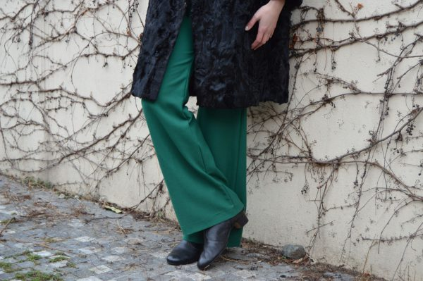 Zelené slow fashion kalhoty