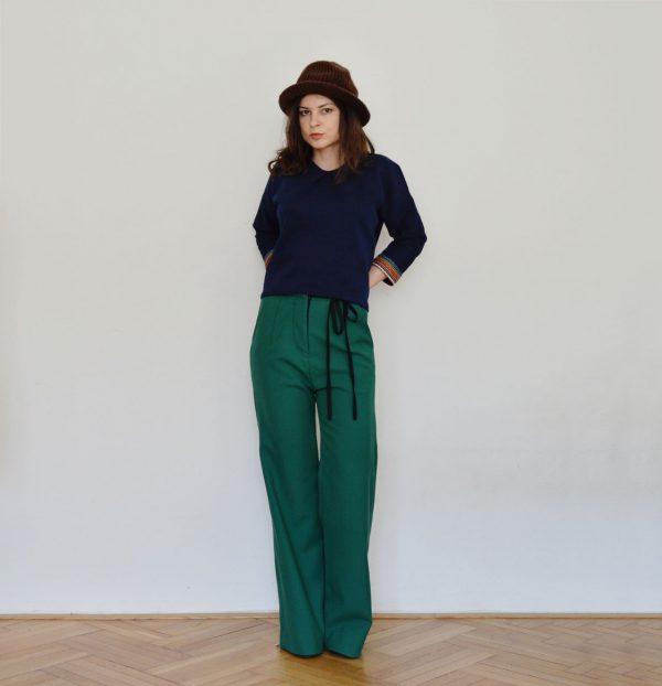 Vlnené nohavice na jeseň a zimu (od slovenskej módnej návrhárky)