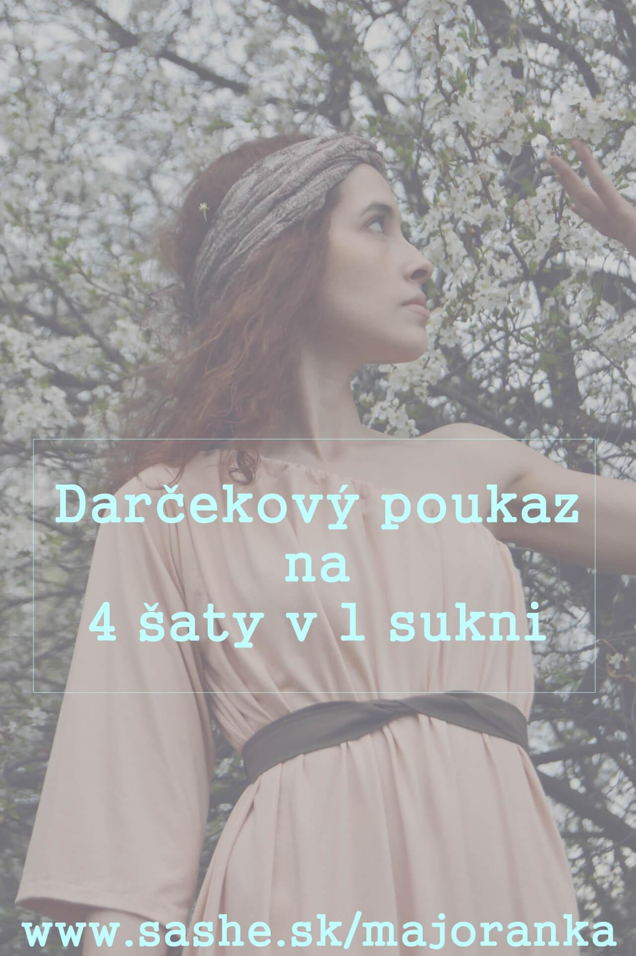 Darčekový poukaz na oblečenie od slovenskej značky