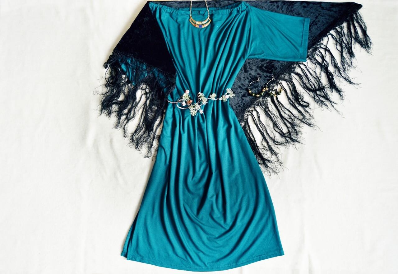 Smaragdovo zelené elegantné multifunkčné šaty