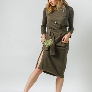Vojenský zelené svojdielne šaty