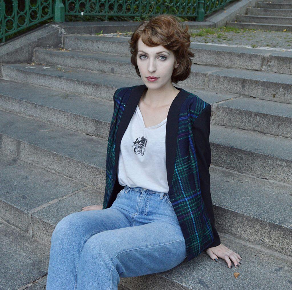 Slow fashion tartan jacket Prague