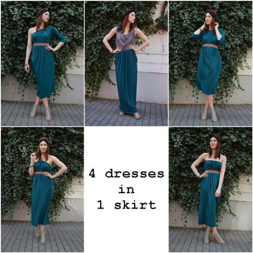 Dress which you can wear in many various ways made in Prague