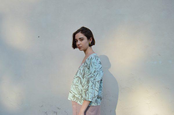 Dámska košeľa v štýle kórejského minimalizmu
