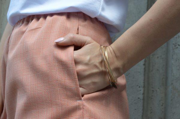 Růžové slow fashion kraťasy