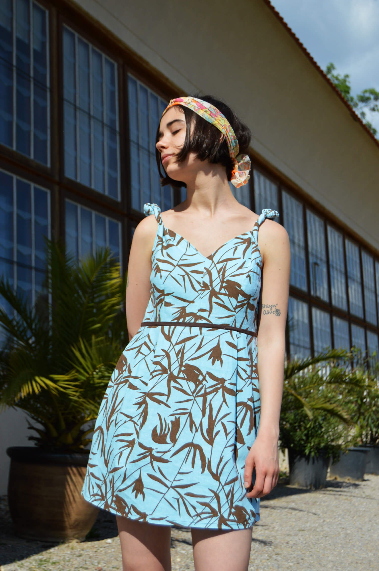 Letné ľanové slow fashion šaty