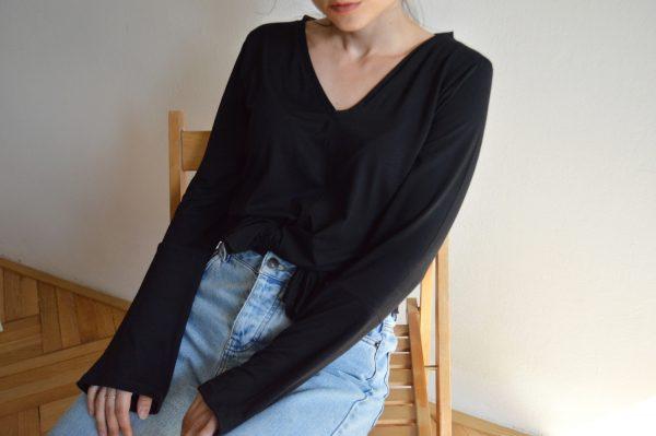 Čierne basic tričko od slovenskej návrhárky