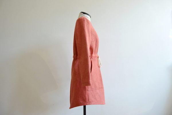 Pekná dámska ružová bunda
