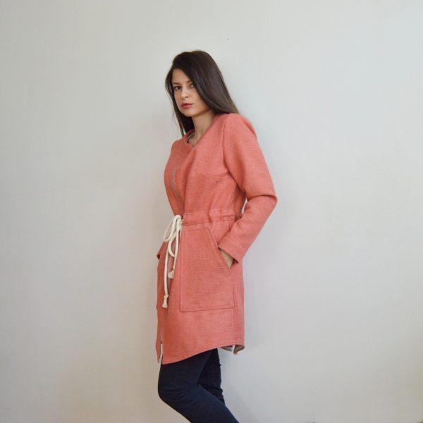 Prechodná ružová bunda