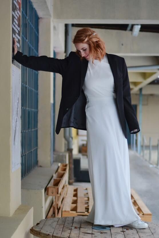 Minimalistické svatební šaty na míru Praha