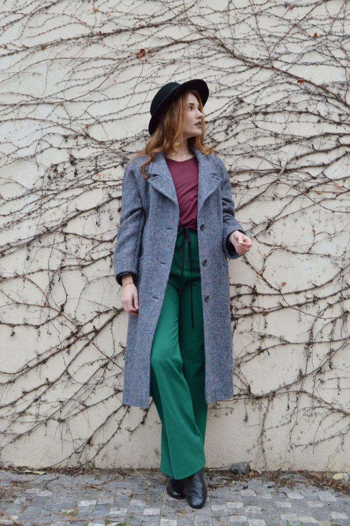 Hrubý vlnený kabát