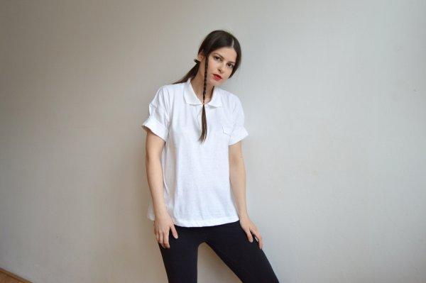 Dámske biele recyklované tričko s krátkym rukávom