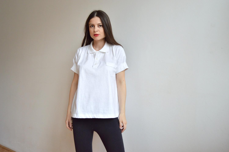 Biele oversize upcyklované tričko