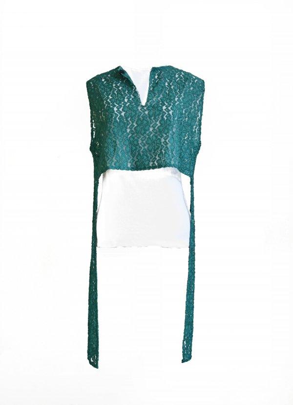 Zelený handmade top